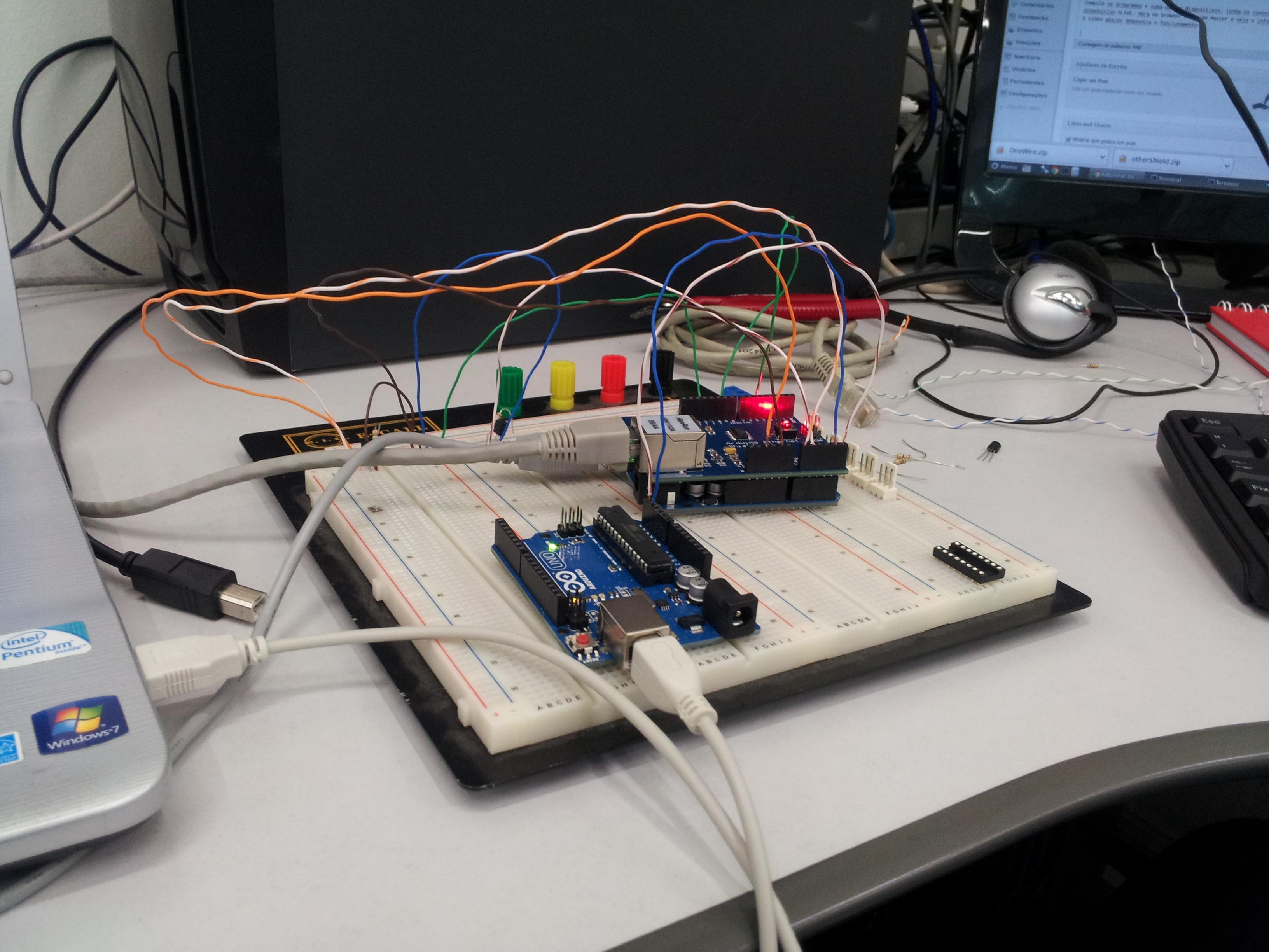 Cluster i c com arduino do bit ao byte