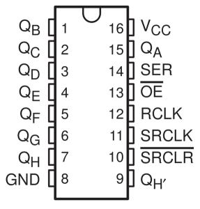 74HC595   Display 7 segmentos