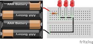 LED em serie   cálculo de resistores