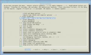 kernel hacking -> Magic SysRq key | botão para desligar raspberry