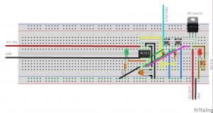 NE555 modo biestável com FET canal N   botão para desligar raspberry