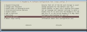 RC522 no Raspberry - Menu do programa raspi-config