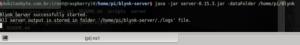 Inicialização do Blynk server | Blynk, IoT e MQTT