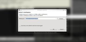 Arduino no Eclipse - Eclipse workspace