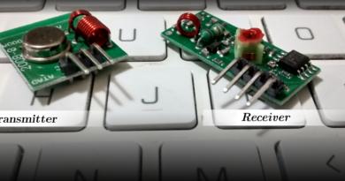 RF transmitter e receiver