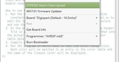 Opção para upload pela IDE do Arduino