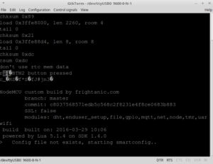 Encontrando a velocidade ideal no GTKTerm   produto final com esp8266