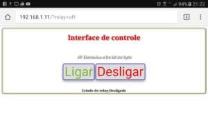 Simples interface web   webServer para o ESP8266