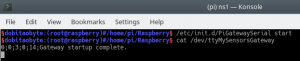 cat /dev/ttyMySensorsGateway - NRF24L01 com Raspberry