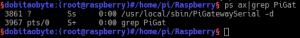 ps ax - NRF24L01 com Raspberry