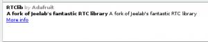 RTClib | data logger shield