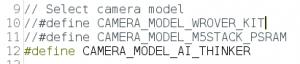 face recognition com ESP32-CAM - modelo