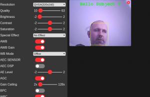 face recognition com ESP32-CAM - reconhecimento