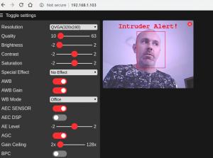 face recognition com ESP32-CAM - alerta