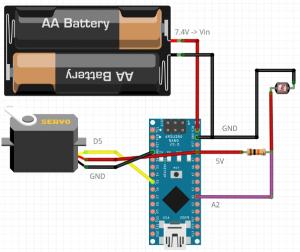 Dispenser para drone - wiring