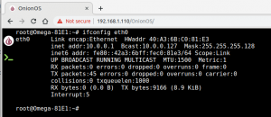 Ethernet no Onion Omega - subnet classe A